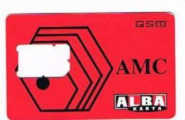 ALBANIA - AMC SIM GSM  - ALBA KARTA -   USED WITHOUT CHIP  -  RIF. 1474 - Albanie