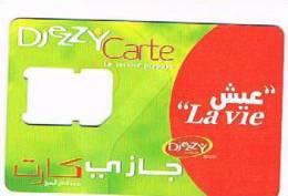 ALGERIA - DJEZZY (SIM GSM)  -  LA VIE      - USED WITHOUT CHIP    - RIF. 248 - Algeria