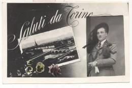 1997-SALUTI DA TORINO-BERSAGLIERE-1940 - Oorlog, Militair