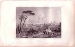 1848 - Gravure Originale Sur Acier De Rouargue - Antibes - FRANCO DE PORT - Estampes & Gravures