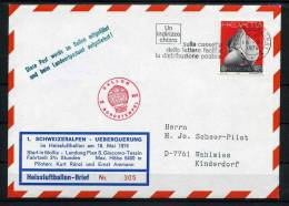 1974 Switzerland Germany Europa Kinderdorf Ballon Flight Cover BP49 - Switzerland