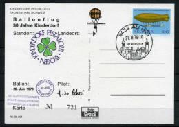 1976 Switzerland Germany Trogen - Au Kinderdorf Ballon Postcard BP50 - Covers & Documents