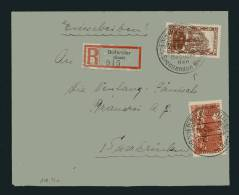 1934 Saar Saargebiet Dudweiler Registered Einschreiban Besucht Den Brennenden Berge Cover - Unclassified