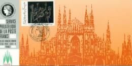 086 Carte Officielle Exposition Internationale Exhibition Milanofil 1992 France FDC Tableau Art Tableau Au Noir Matta - Esposizioni Filateliche