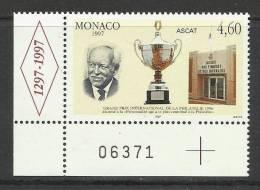 MONACO , 4.60 F  , Grands Prix International De La Philatélie , 1997 , N° YT 2103 - ( NEUF ) - Monaco