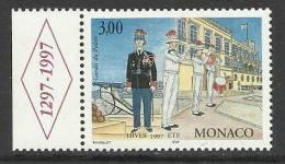 MONACO , 3 F  , Gardes Du Palais , 1997 , N° YT 2107 - ( NEUF ) - Monaco