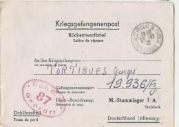 Prisonnier De Guerre Courrier Avec Cachet De Contrôle Rouge - TTB 1942 -guerre 39/45 - Allemagne