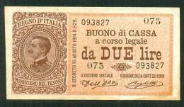 ITALIA , 2 LIRE 2.9.1914. DEL´ARA - RIGHETI - Italia – 2 Lire