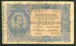 ITALIA , 10 LIRE 10.4.1915. GIU DELL'ARA - RIGHETTI - [ 1] …-1946 : Kingdom