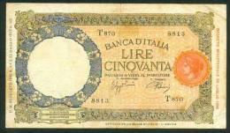 ITALIA , 50 LIRE 28.8.1942. - 50 Lire