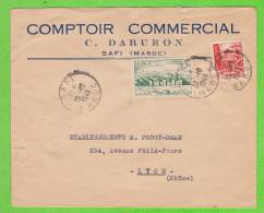 Sur Env. En-Tête Comptoir Commercial C. DABURON à SAFI - MAROC - 2 Timbres - Marruecos (1956-...)