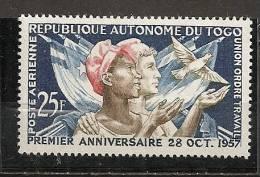 1957 - PA N°24** - Anniversaire De La République Autonome - Togo (1960-...)