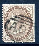 Jamaica 1860 1/- Dull Brown, A01 Cancel, Fine Used (A) - Jamaica (...-1961)