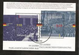 Block 43 1998 Mit Ersttagsstempel - Gebraucht
