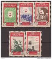 MA307-2995TOSC.Maroc Marocco.MARRUECOS ESPAÑOL PRO TUBERCULOSOS.1949 (Ed 307/11**) Sin Charnela LUJO - Organizaciones