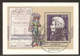 Block 26 - 1991mit Sonderstempel Mozartjahr Vom 5.12.1991 - BRD