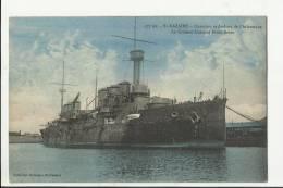 """SAINT-NAZAIRE   -  Chantiers Et Ateliers De L'Atlantique - Le Croiseur Cuirassé """" Ernest Renan """" - Saint Nazaire"""
