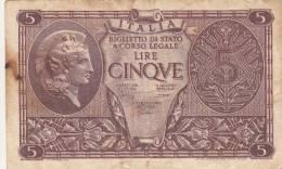 LUOGOTENENZA ITALIA 1944 - 5 LIRE E 10 LIRE - CONDIZIONI COME DA FOTO - [ 1] …-1946: Königreich