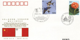 PFTN.WJ-95 CHINA-MALTA DIPLOMATIC RELATIONSHIP COMM COVER - 1949 - ... People's Republic