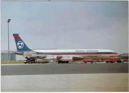 Thème - Transport - Avion -  Ed. Amsterdam Airport Aviation Mailorder Dept N°8 - Boeing Ontario 707 Worldair - 1946-....: Moderne