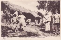 CPA MAROC @ Campagne Du Riff 1925 - 1926 @ Paysans Riffains @ - Maroc