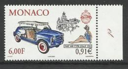 MONACO , 6 F  Ou 0.91 € , Fiat 600 Type Jolly 1955 , 2000 , N° YT 2277 - ( NEUF ) - Monaco