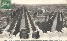 Paris- Panorama Pris De L´Arc De Triomphe Sur L'Avenue De La Grande Armée Et L'Avenue Carnot. - Panoramic Views