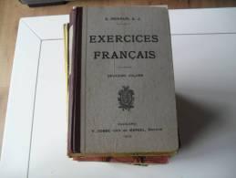 Trés Ancien EXERCICES FRANCAIS 2ème Volume RENAUD - 12-18 Years Old