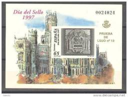 PO62-2971THC.España.Spain .Espagne.Buzon. DIA DEL SELLO 1997 .(Ed PO 62) Sin Charnela.LUJO - Hojas Conmemorativas