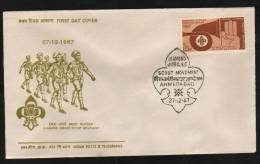 India 1967  BOYS SCOUTS MOVEMENT SCOUTING FDC   #  07583d Indien Inde - Scouting