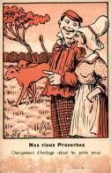 Humour 198 Vieux Proverbes (attribuée à Griff) état - Humour