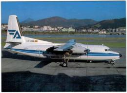 Thème - Transport - Avion - Avimage N°63 - Aviaco - Fokker F27 600 - San Sebastian - 1946-....: Moderne