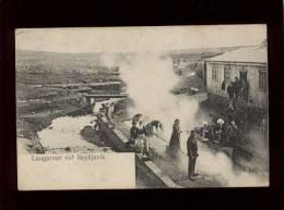 laugarnar viid reykjavik �dit. finsen & johnson 41 n� 4217 lavoirs laveuses islande pr�curseur