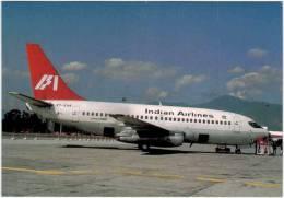 Thème - Transport - Avion - Avimage - Indian Airlines, Boeing 737- 2A8, Kathmandu - 1946-....: Moderne