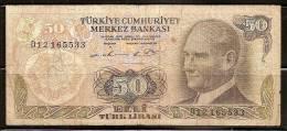 Turkey 1970 Banknote - 50 Turk Lirasi (lira) - Turquie