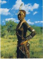 Ethiopia Native Bare Breasted Girl From The OMO VALLEY With All The Jewellery Around Neck & Arms, Great Stamps - Ethiopia
