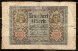 Germany 1920 Banknote - 100 Mark - [ 3] 1918-1933 : Repubblica  Di Weimar