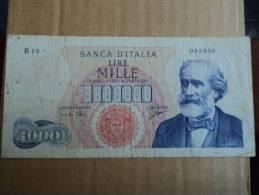 1000 LIRE ITALIA VERDI PRIMO TIPO - D.M. 5 LUGLIO 1963 E 28 GIUGNO 1962   CARLI-RIPA - - [ 2] 1946-… : Républic