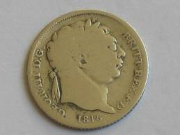 6 Pence 1816 Geogius III DEI GRATIA  - Great Britain - Grande Bretagne - GEORGE III - 1662-1816 : Anciennes Frappes Fin XVII° - Début XIX° S.