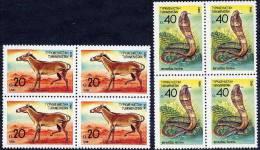 TURKMENISTAN 1992 Fauna Blocks Of 4 MNH/** - Turkmenistan