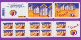 FRANCE - Carnet BC 53 Ou BC53 Non Plié - Vacances 2005 - 10 TP Autoadhésifs 3788 - Neuf** - SUP - Booklets