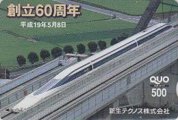 Carte Prépayée Japon - TRAIN Chemin De Fer - Railway Japan Prepaid Card - ZUG Eisenbahn Trein Quo Karte - 1579 - Eisenbahnen