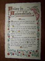 CPM. Citation - Prière De L Automobiliste - Seigneur.....Ainsi Soit - Il - Motif Fleuri - éditions Roussel - Cartes Postales