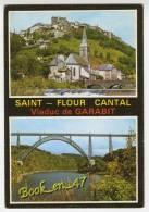 {56551} 15 Cantal Saint Flour , Viaduc De Garabit , Multivues ; Vue Aérienne , Ouvrage Ferroviaire - Ouvrages D'Art