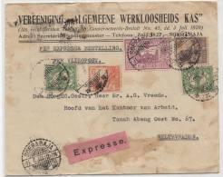 Expresse Flight Cover Soerabaja - Weltevreden 1930 - Inland Flight Cover! - Niederländisch-Indien
