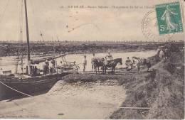 Ile De Ré  - Marais Salants - Chargement Du Sel En Chenal (1916) - Ile De Ré