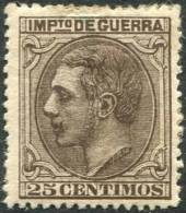 NE 7 1879 Alfonso XII 25 Cts Impuesto De Guerra No Expendido - Usados
