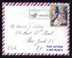 N° 1398 - 0.85 Tableau Peintre Chagall / PARIS 11.06.1964 / Avion Pour NEW YORK - 1961-....