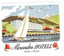 ETIQUETTE HOTEL - ALEXANDRA HOTEEL - MOLDE - NORWAY - Hotel Labels