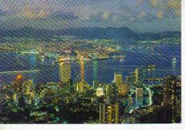 HONG KONG NIGHT SCENE FROM PEACK  OHL - China (Hongkong)